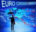 Business People Facing Euro Crisis Royalty Free Stock Photo