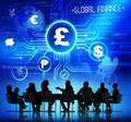 Business People and Global Finance Concepts Royalty Free Stock Photo