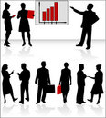 Business people and graph Stock Photos