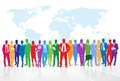Business People Group Colorful...