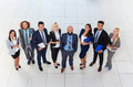 Business People Group Happy Smile Standing At Modern Office Top View, Businesspeople In Row Royalty Free Stock Photo