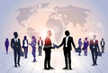Business People Group Silhouette Meeting Speak Discussion Communication Concept Royalty Free Stock Photo