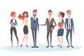 Business People Group Team Human Resources Businessman Hand Shake Agreement Royalty Free Stock Photo