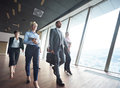 Business people group walking Royalty Free Stock Photo