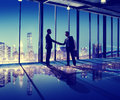 Business People Hand Shake Office City Concept Royalty Free Stock Photo