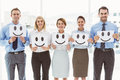 Business People Holding Happy ...