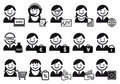 Business people  icon set Stock Image
