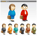 Business people icon set Stock Photography