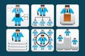 Business people icons set of Royalty Free Stock Image