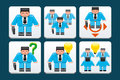 Business people icons set of Royalty Free Stock Photos