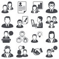 Business people icons set concept Stock Photos