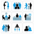 Business People Icons. Vector Set Royalty Free Stock Photo