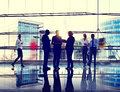 Business people interaction communication colleagues working off office concept Royalty Free Stock Image