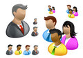 Business People | Internet Icon Set Royalty Free Stock Images