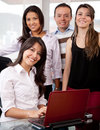 Business people on a laptop Royalty Free Stock Images