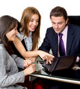 Business people with a laptop Royalty Free Stock Photos