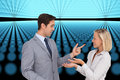 Business people meet each other composite image of Royalty Free Stock Photography