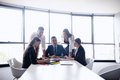 Business people in a meeting at office group of happy young Royalty Free Stock Images
