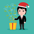 Business People Money Gift box, Christmas Holiday Royalty Free Stock Photo