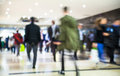 Business people moving blur people walking in rush hour business and modern life concept Royalty Free Stock Images