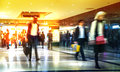 Business people moving blur people walking in rush hour business and modern life concept london uk march Royalty Free Stock Images