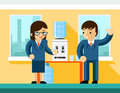 Business people near water cooler Royalty Free Stock Photo
