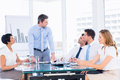 Business people in office at presentation Royalty Free Stock Photo