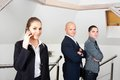 Business people in office standing Royalty Free Stock Photo