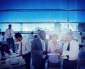 Business people office workplace interaction conversation teamwork concept Royalty Free Stock Photos