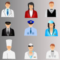 Business people and professional job icons illustration Stock Photography