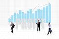 Business people profit bar chart as background Stock Images