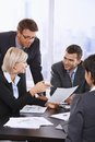 Business people reviewing contract Royalty Free Stock Photo