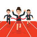Business people running race competition