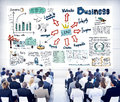 Business People in a Seminar About Leadership Royalty Free Stock Photo