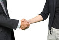 Business people shaking hands isolated on white background Royalty Free Stock Photo