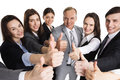 Business people showing thumb up Royalty Free Stock Photo