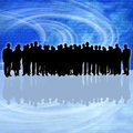 Business people silhouette Stock Images