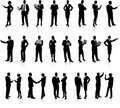 Business People Silhouette Super Set Stock Photo