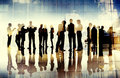 Business People Silhouette Working Cityscape Teamwork Talking Di Royalty Free Stock Photo