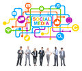 Business People and Social Media Concepts Royalty Free Stock Photo