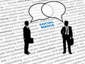 Business people social network text talk bubbles Royalty Free Stock Photo