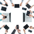 Business people social networking Royalty Free Stock Photo