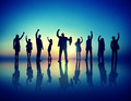 Business People  Succesful Celebrating Winning Concept Royalty Free Stock Photo