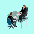 Business people in suit sitting at the table. Meeting. Job interview. Job applicants. Concept of hiring worker Royalty Free Stock Photo