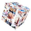 Business people team group of smiling businessman and women collage Royalty Free Stock Photos