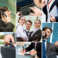 Business people and technology Royalty Free Stock Image