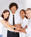 Business people with their hands together Royalty Free Stock Photo