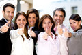 Business people with thumbs up Royalty Free Stock Photography