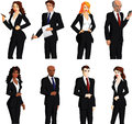 Business people of various ages and races a vector illustration Royalty Free Stock Photography