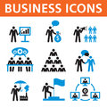 Business people vector icons set for different work Stock Photos